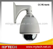 Outdoor CCD Camera Vandal-proof Dome Camera with 3-axis Cable, 420 to 700TVL Resolution