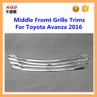 car accessories toyota avanza abs plastic chrome middle front grille trims for avanza 2016 toyota part avanza