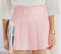 d10648b 2016 new arrival women's short skirt ladies sweet candy color pleated skirt