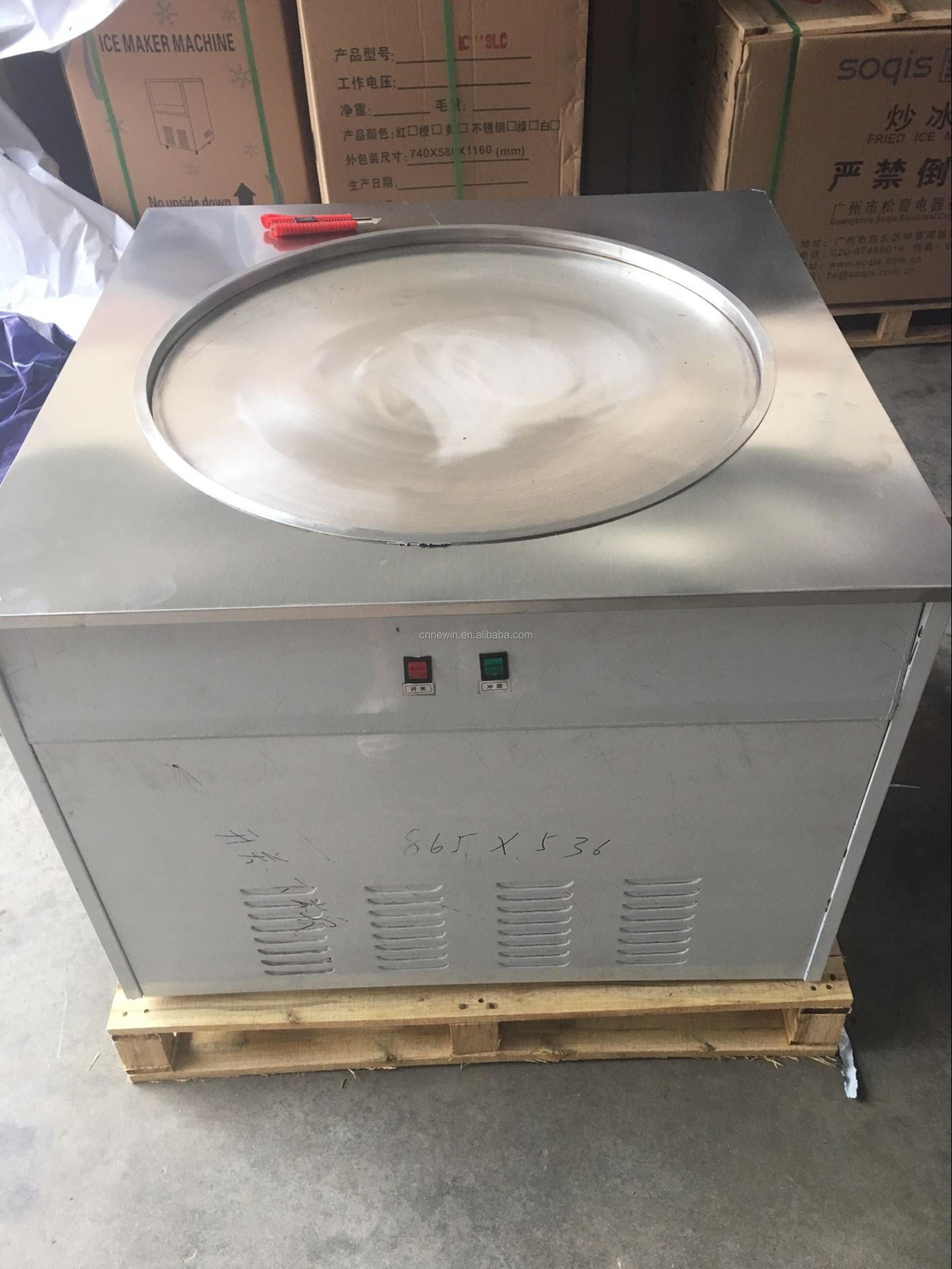110 volts 70cm thailand style roll fry/fried ice cream machine with flat table