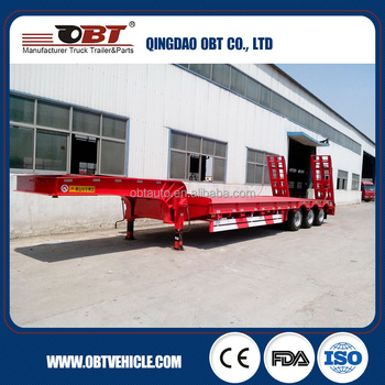 3 axle skeletal or skeleton 2*20ft and 40ft common low bed semi trailer , trailer dimensions and truck prices