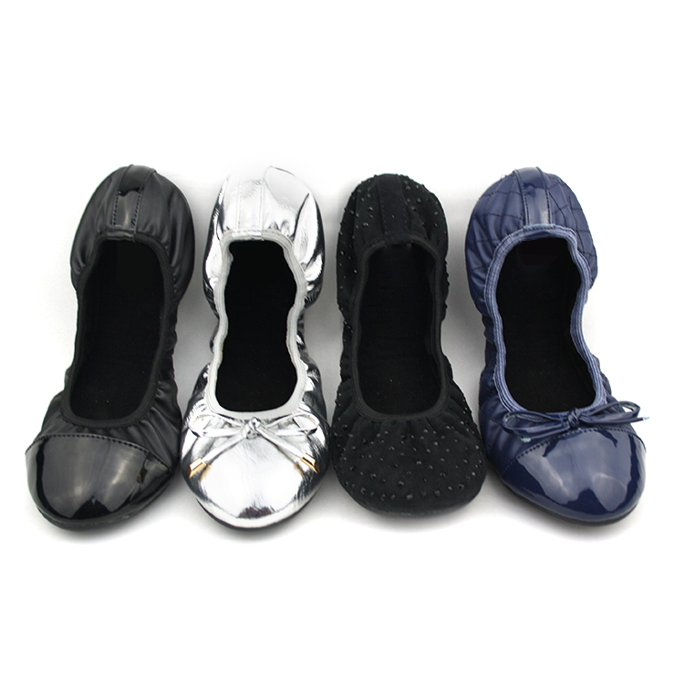 europe trendy party wear ballet foldable flats