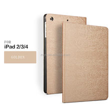 Flip leather stand for ipad 4 smart case