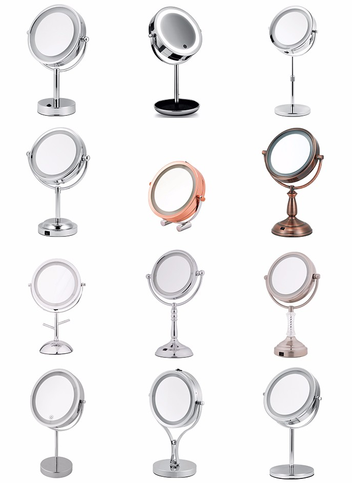 Professional 10X Magnifying Lighted Makeup Mirror With Foldable Arm