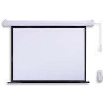 "60"" 1:1 motorized electric matt white projector screen"