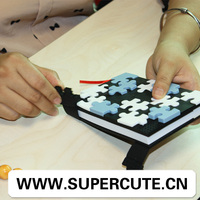 Waterproof stationery silicone puzzle surface book case notebook