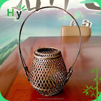 HY factory Bamboo basket for flowers