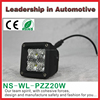 Factory price 12v 3.07*3.46inch square 20w super bright led work light