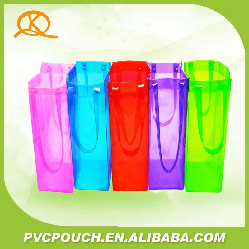 Commercial Wine Bottle Cooler Pouch with PVC Material