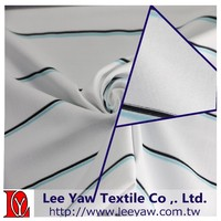 92% polyester microfiber full dull 8% spandex yarn dyed feeder stripe fabric with UV-Cut and wicking for Garment