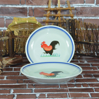 Taiwan Kitchen Rooster Decoration Round DInner Charge Plates