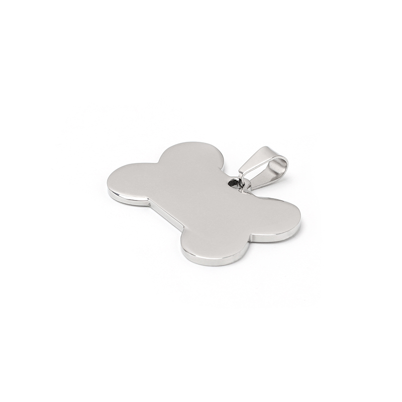 High Polished Dog Bone Shape Custom Stainless Steel <strong>Charms</strong>