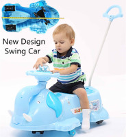 8 Wheels Elephant Ride On Scooter Children And Adult Swing Car For Sale