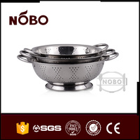 Wholesale china stainless steel rice colander with stand