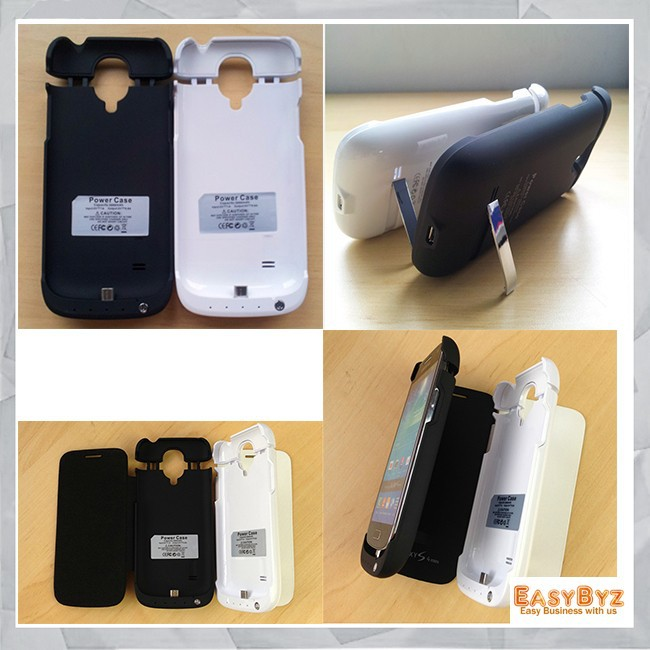 3000mah Battery Charger Case for Samsung galaxy S4 mini,Battery stand Case/power bank case for Samsung Galaxy S4 mini