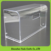 Elegant curved shaped acrylic container with lid wholeasale lucite cover box