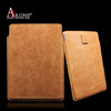 Genuine top layer cowhide leather case for ipad air leather pouch