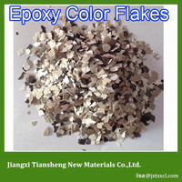 Decorative flake additive for epoxy Flooring