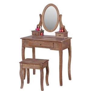 New product french style carving wood dressing table set