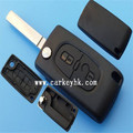 Good Price Entry key remote fob shell case Peugeot2 button key case no logo CE0523 without groove blade