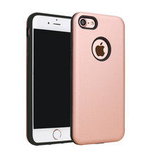 Trade assurance pure color tpu pc 2 in1 for iphone 7 tpu pc case
