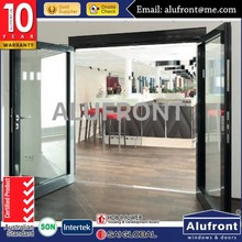 Thermal break aluminium french used commercial glass entry doors