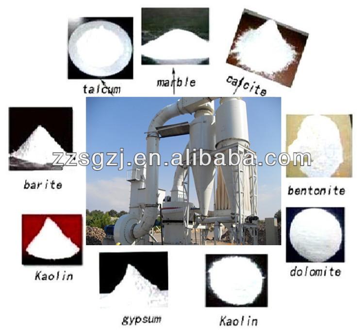 300-3000 maillage. de haute broyage ratio minéraux de broyage