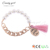 L1477 Candygirl brand hand made latest design accessories custom pearl tassel seed bead bracelet jewelry bangle bracelet