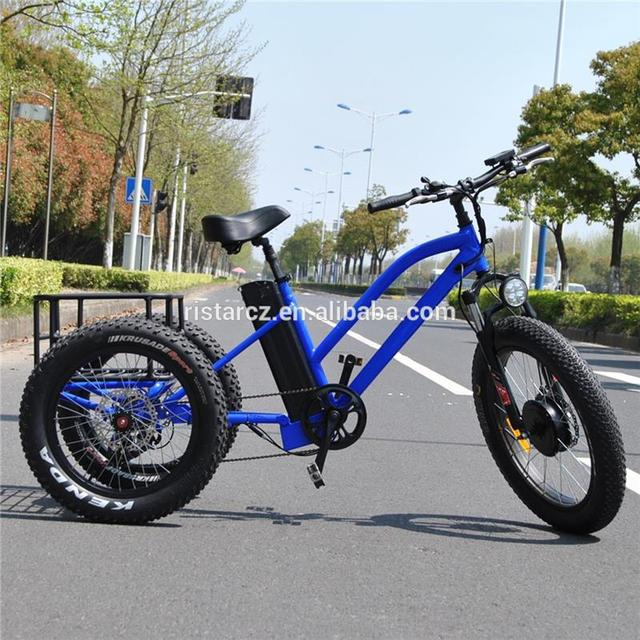 Cheap price 48V 500W fat tire ebike adult 3 wheel electric bike bicycle from China