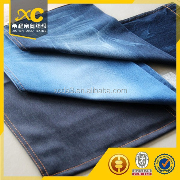 6.5oz twill cotton polyester denim jeans fabric