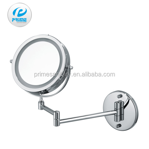Guangdong battery operated wall mounted bath shaving magnifying mirror with light