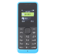 Hot sale in unlocked for cell phone dual sim whatsapp facebook GSM mobile phone for nokia 105