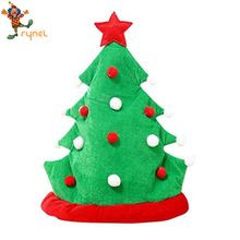 PGH2219 40cm Red Santa Claus Hats, Christmas Tree shape, Christmas Ornaments
