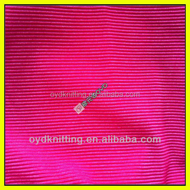 100 Poly Warp Knitting Corduroy Strip Velvet Garment Fabric