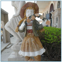 outdoor decorative marble standing girl statue for sale