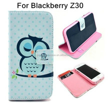 Hot Selling Desk Stand Wallet Leather Skin Cover for Blackberry Z30