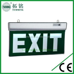 factory aluminum and acrylic led emergency exit sign board
