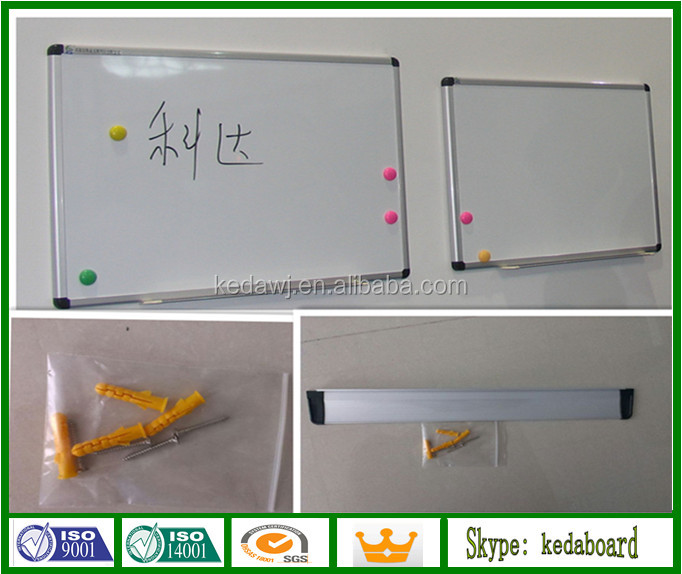 Small Sizes Magnetic Whiteboard with Aluminium Pen Tray