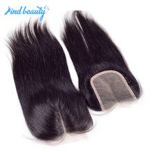 Cheap Human Raw Virgin Hair Lace Closure Back Closure Hair