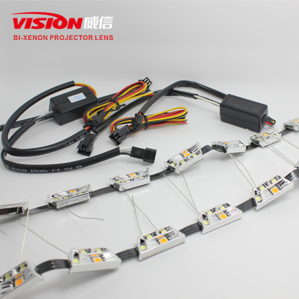 Vision Dual colors led drl daytime running light for flexible led car neon light