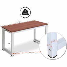 Modern Simple Style Steel Frame Wooden Home Office Table - Computer PC Laptop Desk Study Table Workstation for Home Office and M