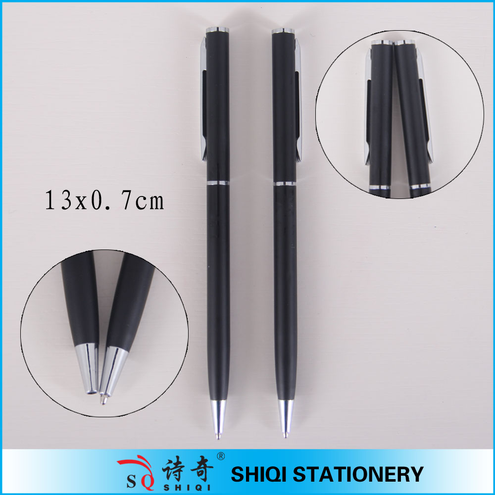 Twist action black color aluminum pen