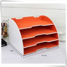adjustable pu leather desk letter trays desk in tray