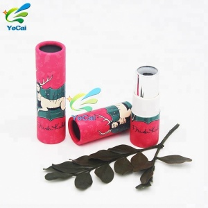 Recycled luxury free sample paper tube packaging container for lipstick lip gloss lip balm