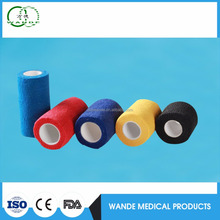 High Quality vet wrap colored waterproof horse medical non-woven elastic cohesive bandage
