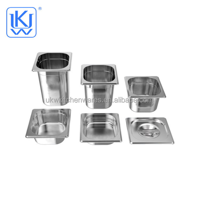 Ukw Kitchenwares Stainless Steel Hotel Food Container 1/6 Gn Pan   Buy  Gastronorm Container,Ice Cream Container,1/6 Gn Pans Product On Alibaba.com