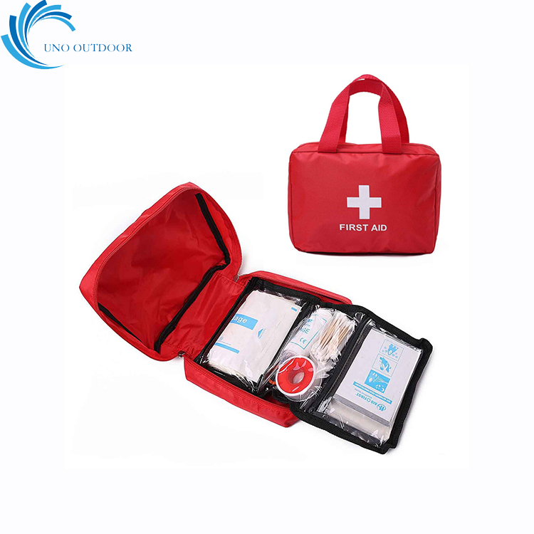 FDA CE approved home outdoor camping school red waterproof individual package emergency aid kit