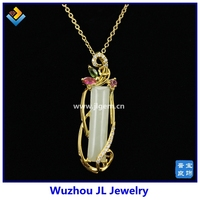 New Design Jewelry Spring Natural Hetian Jade Serial Jade 925 Sterling Silver 18K Plated Fashion Small Ladies Pendant