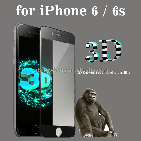 Wholesale 3D Tempered Glass Screen Protector For Iphone 6 6s plus 4.7 5.5inch without retail package