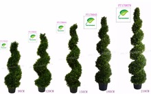 UV resistance Protective topiary spiral trees Plastic Artificial cedar/cypress decoration indoor/outdoor